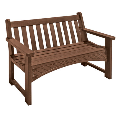 4' Heritage Bench Brown