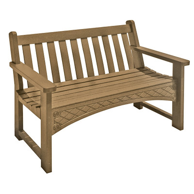 4' Heritage Bench Driftwood