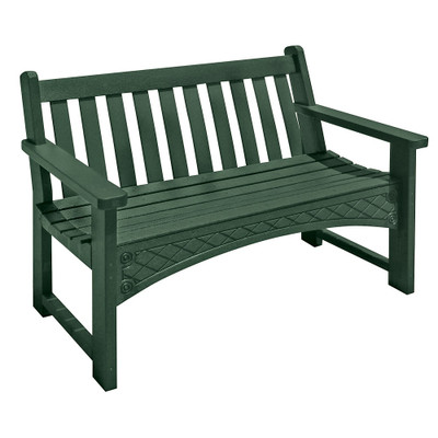 4' Heritage Bench Green