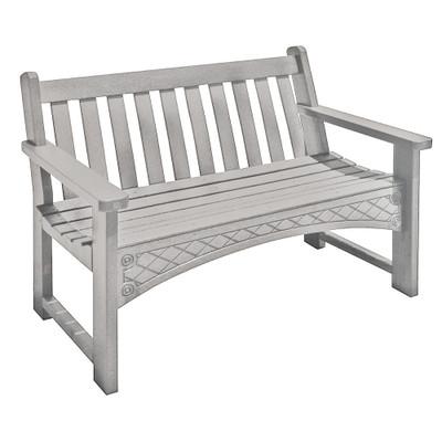 4' Heritage Bench White