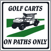 Golf Carts On Path Only
