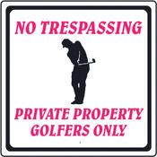 Aluminum Sign - No Trespassing
