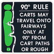 Aluminium Sign 90 Degree Rule