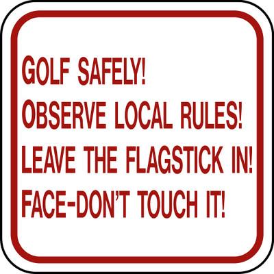 """12"""" x 12"""" Aluminum Sign - """"Golf Sig"""