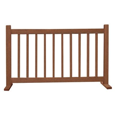 6' Barrier W/T Feet Walnut