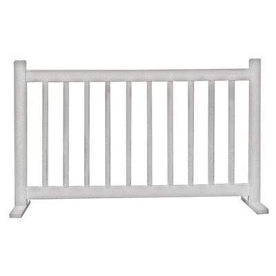 6' Barrier W/T Feet White