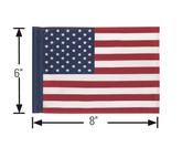 """6""""x8"""" Screen Printed American Flag"""