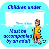 CHILDREN UNDER AGE SIGN