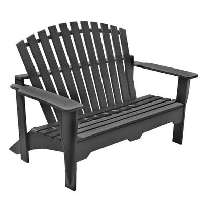 Adirondack Bench Black