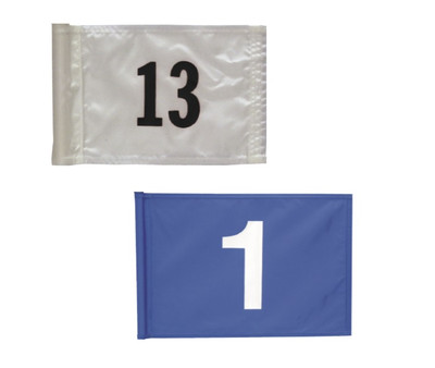 Applique Numbered Putting GreenFlag