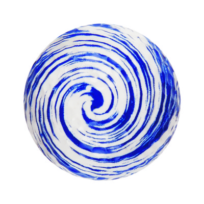 BLUE/WHITE SWIRL NOVELTY