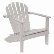 Cozy Adirondack Chair White