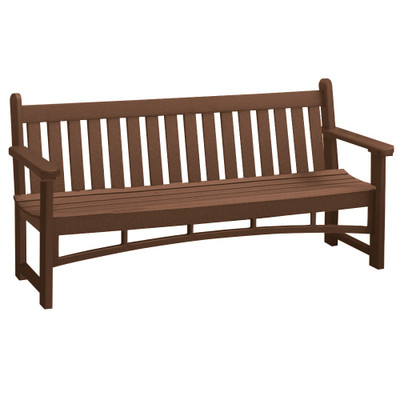 6' Heritage Bench Brown