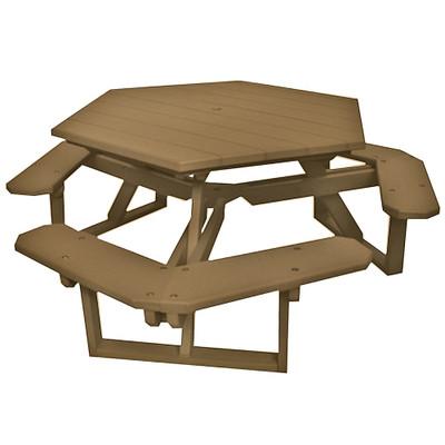 Hexagon Picnic Table Driftwood