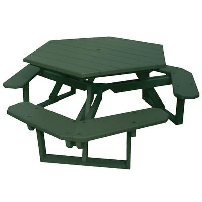 Hexagon Picnic Table Green