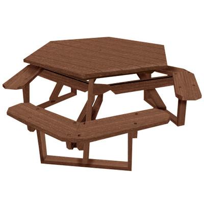 Hexagon Picnic Table Walnut
