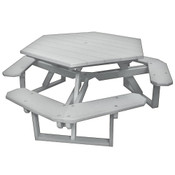 Hexagon Picnic Table White