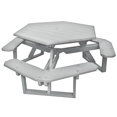 Hexagon Picnic Table White