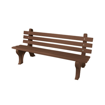 High Back Bench 4' Brown