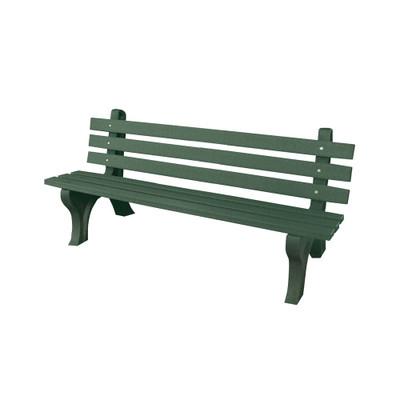 High Back Bench 4' Green