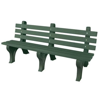 High Back Bench 6' Green