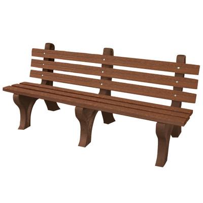 High Back Bench 6' Walnut