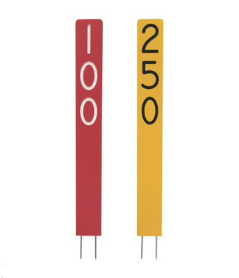 Laminated Plastic Distance Markers
