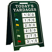 Today's Yardages - Large A-Frame