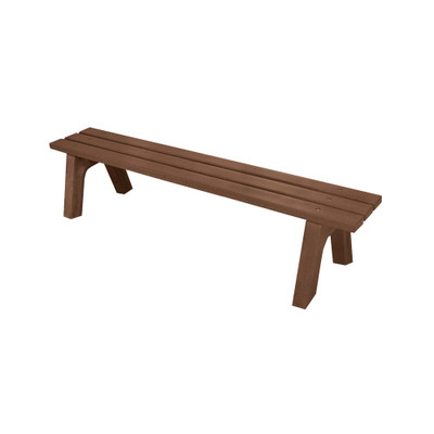 Mall Bench 4' Brown