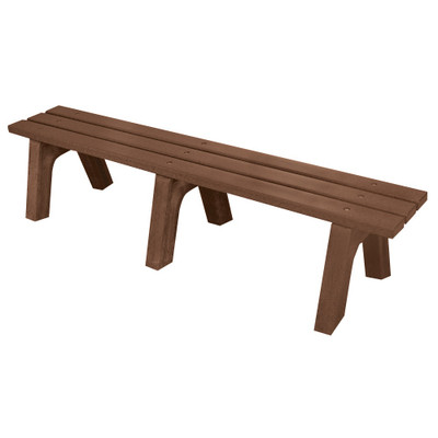 Mall Bench 6' Brown