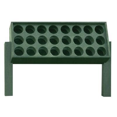Medium Divot Bottle Rack Green
