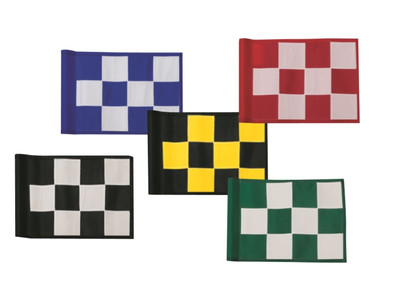 laser cut checkered putting flags