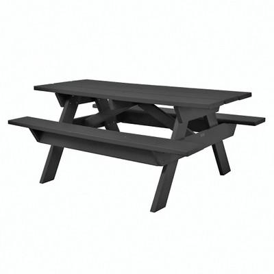 6' Rectangular Picnic Table Black