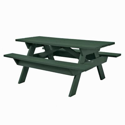 6' Rectangular Picnic Table Green