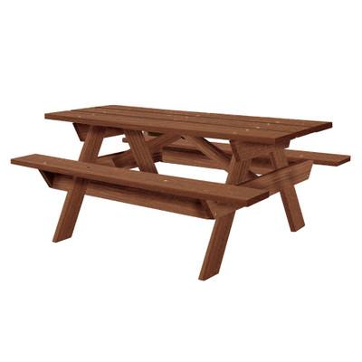6' Rectangular Picnic Table Walnut