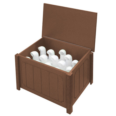 Small Divot Bottle Box Brown
