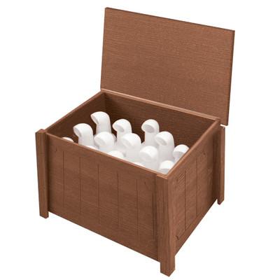 Small Divot Bottle Box Walnut