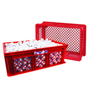 Red Large Stacking Crate
