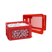 Red Small Stacking Crate