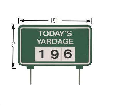 Today's yardage Sign