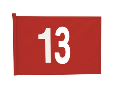 Applique Numbered Set of 9 Flags 13