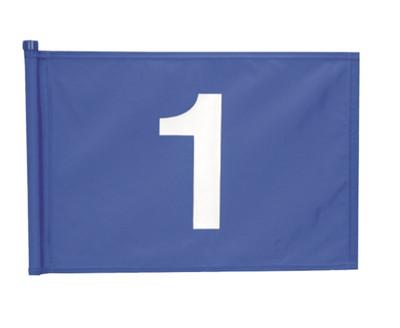 Applique Numbered 9 Flag Set 1 Blue