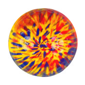 YELLOW/BLUE TYE DYE Novelty Ball